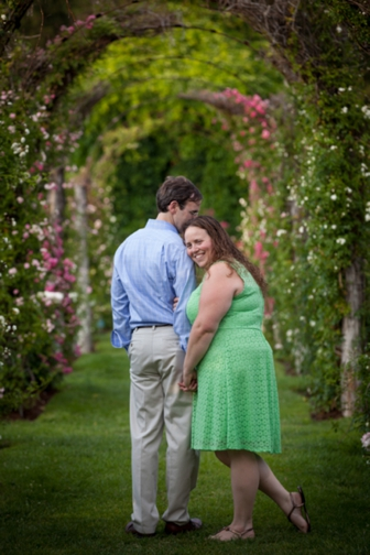 {Engagement} Rose Garden Love in Massachusetts | BellaFoto Studios | Pretty Pear Bride