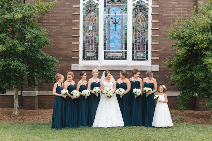 {Real Wedding} Classic Spring Navy and Ivory South Carolina Wedding | Red Apple Tree Photography