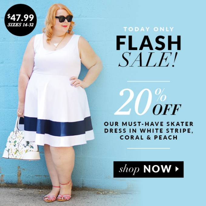 LIFESTYLE | Flash Sale on Striped Skater Dresses TODAY ONLY – 20% off | Society Plus | Pretty Pear Bride