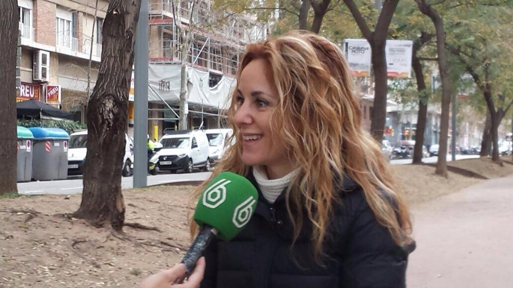 Mireia Sanz entrevistada en La Sexta.