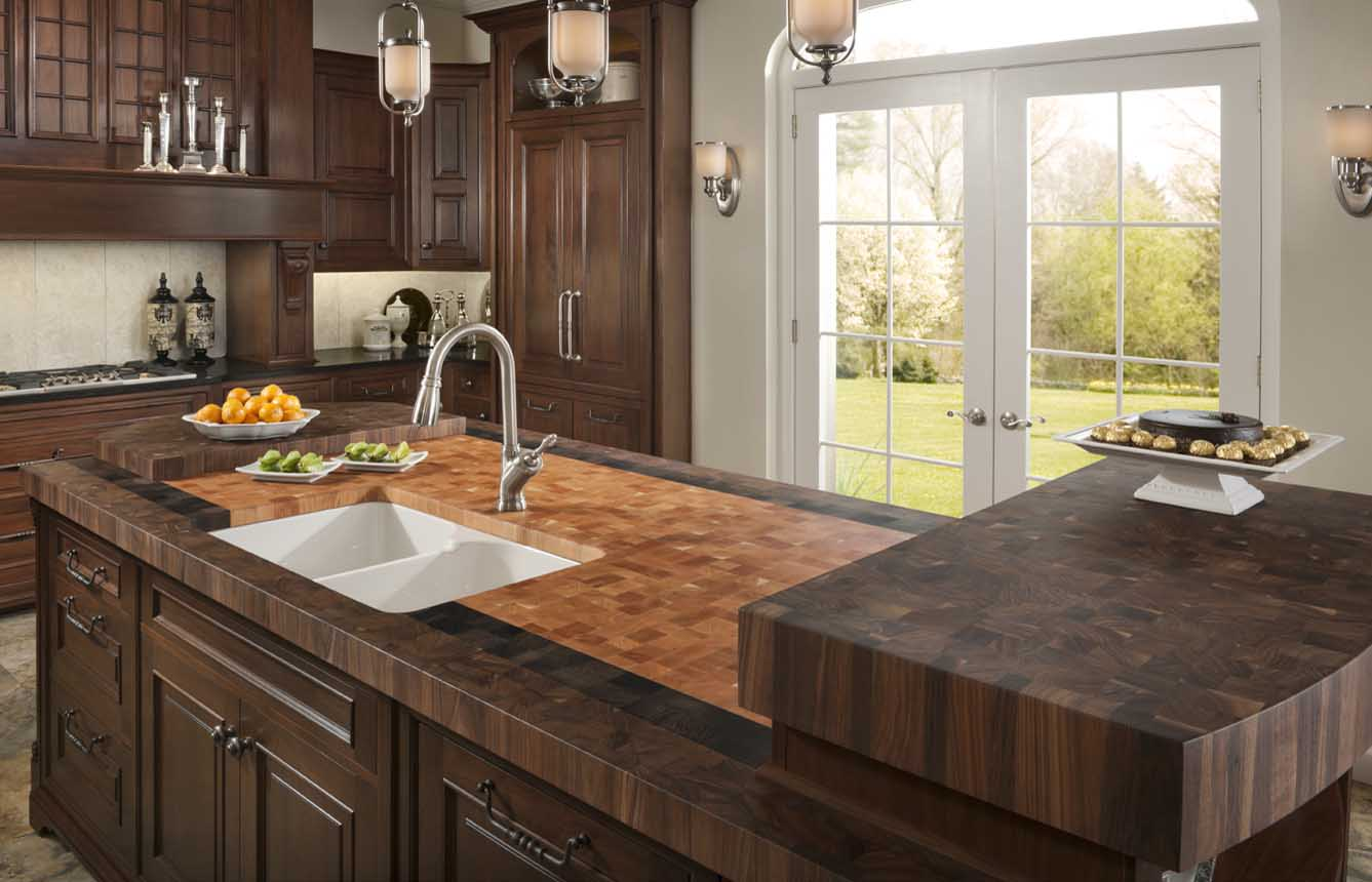 these kitchen countertops have more style than a fashionista wood kitchen countertops Butcherblock Countertops by Grothouse
