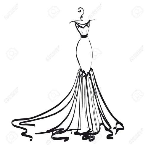 Medium Of Wedding Dress Clipart