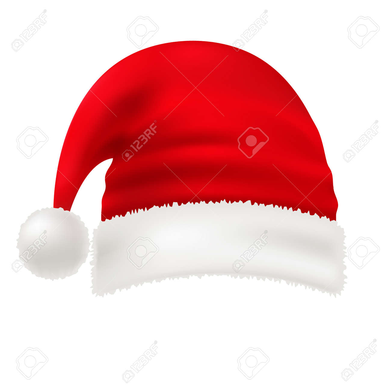 Traditional Symbol Vector Vector Red Santa Hat Isolated On Transparent Newyear Hat A Vector Red Santa Hat Isolated On Transparent Background nice food Santa Hat Transparent
