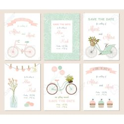 Smashing 45712932 Collection 6 Card Templates Wedding Marriage Save Date Baby Shower Bridal Birthday Valen Rustic Bridal Shower Clipart Bridal Shower Umbrella Clipart