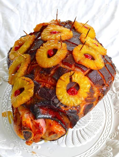 Medium Of Pineapple Glaze For Ham
