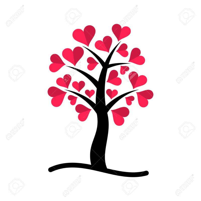 Large Of Tree With Heart Shaped Leaves