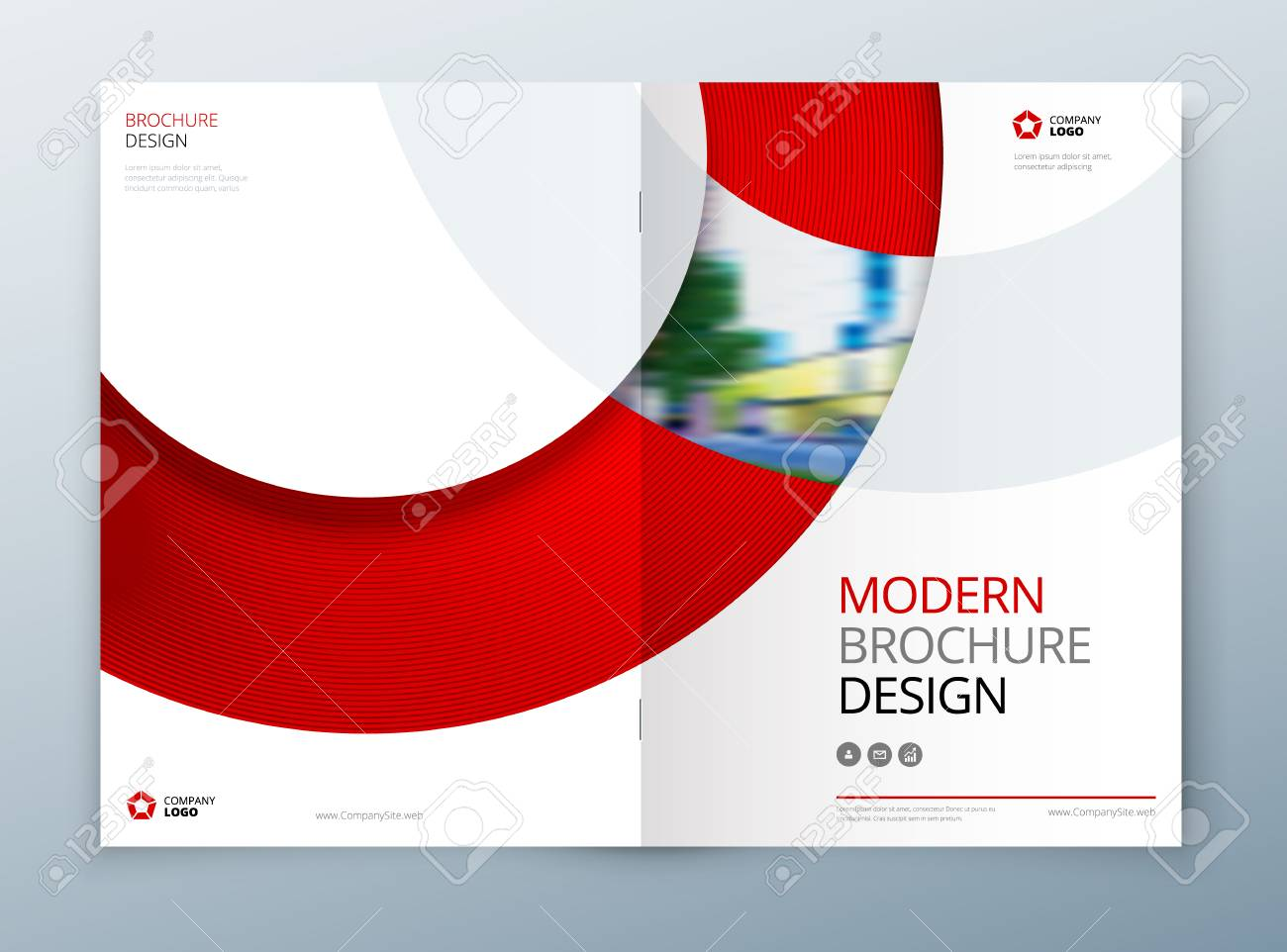 Brochure Template Layout Design  Corporate Business Annual Report     Brochure template layout design  Corporate business annual report  catalog   magazine  flyer mockup