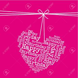 Robust Dangling Heart Over Pink Happy Stock Vector Dangling Heart Over Pink Happy Royalty Free Happy Birthday Heartfelt Messages Happy Birthday Hearts