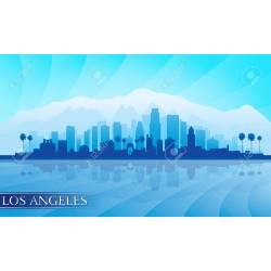 Small Crop Of Los Angeles Skyline Silhouette