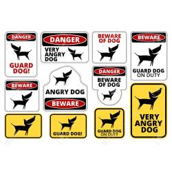 Small Crop Of Beware Of Dog Signs