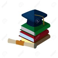 Endearing Certificate Vector Illustrationstock Vector Back To Graduation Cap Back To Graduation Cap Certificate Vector Graduation Cap Images Printables Red Graduation Cap Images