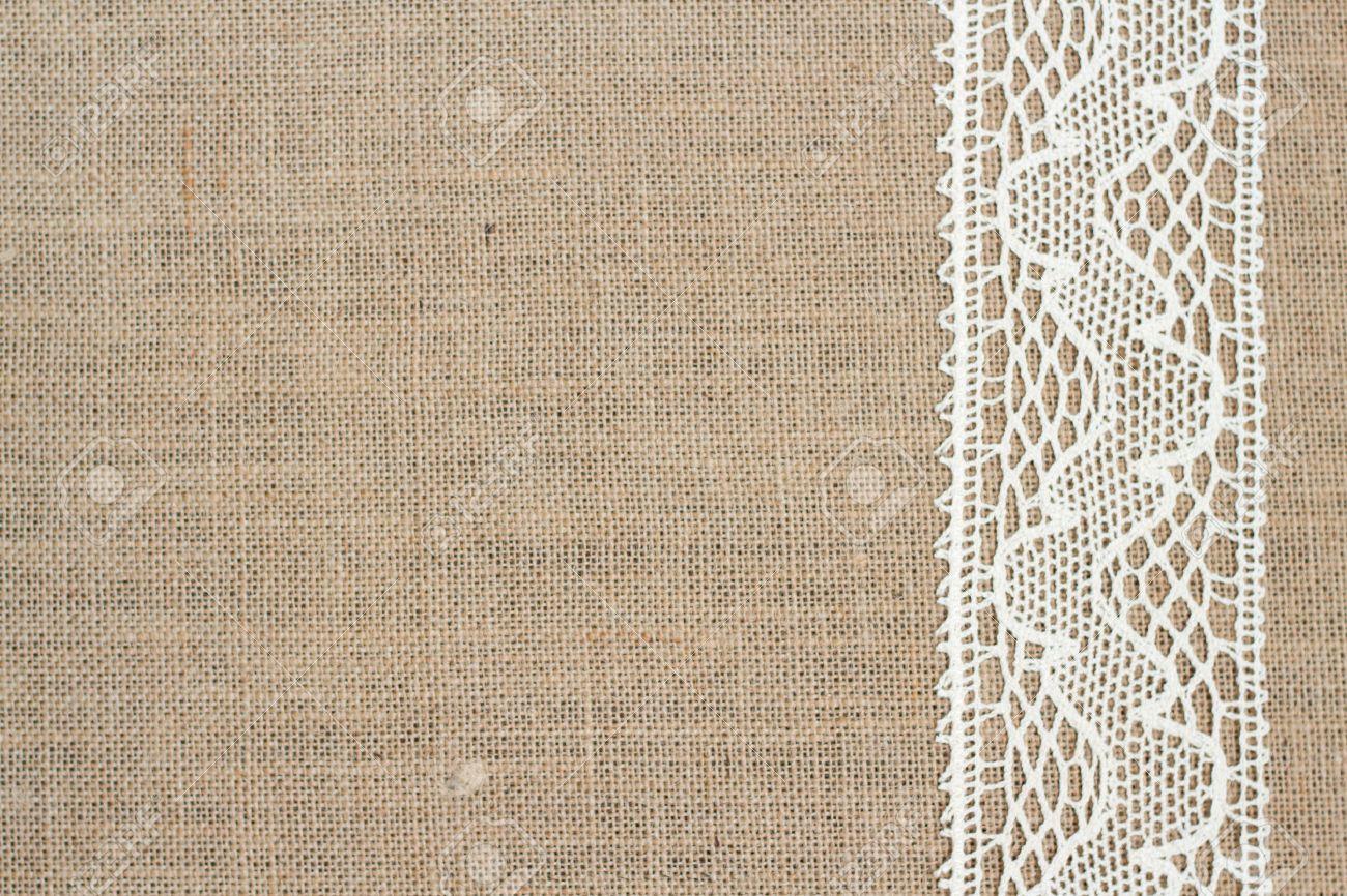 Fullsize Of Burlap And Lace Background