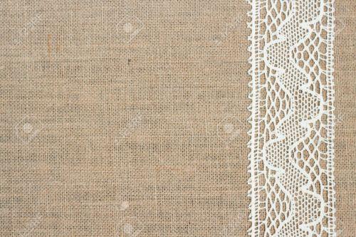 Medium Of Burlap And Lace Background
