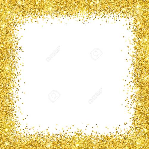 Medium Of Gold Glitter Border