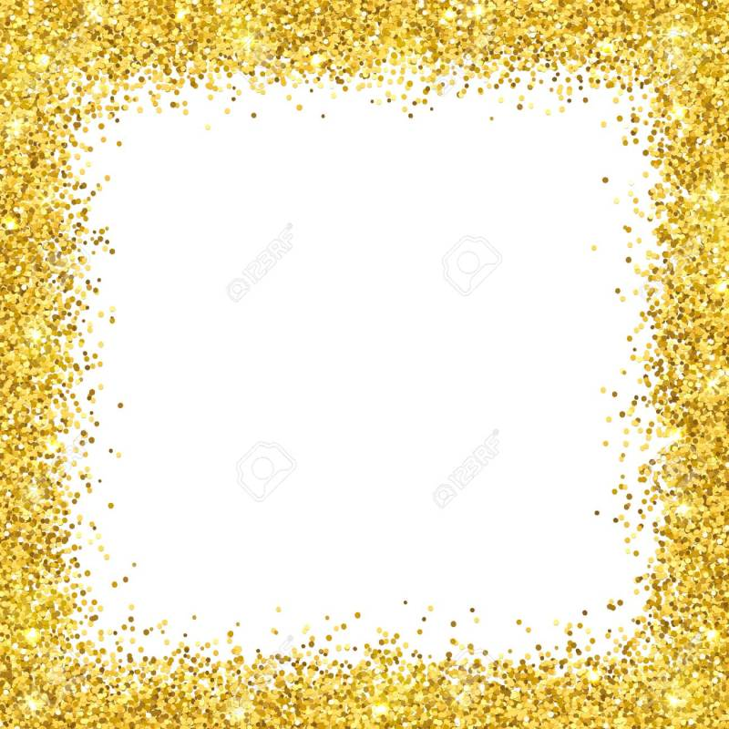 Large Of Gold Glitter Border
