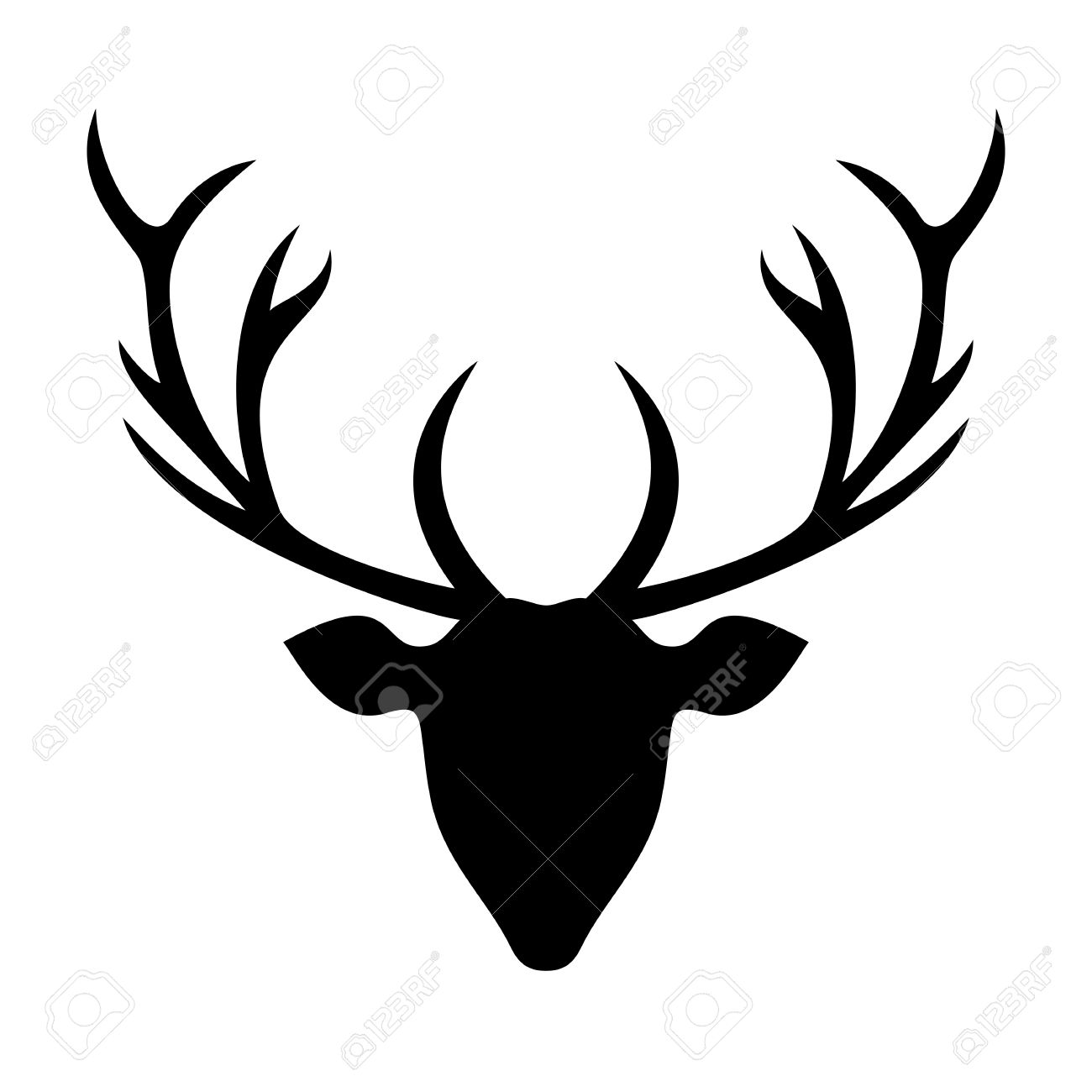 graphic about Deer Head Silhouette Printable titled Invigorating Deer Mind Silhouette Inventory Vector Deer Brain