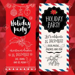 Sleek Holiday Backgroundand Design Vector Template Xmas Vector Party Invitation Vector Vector Party Invitation Holiday Background wedding invitation Christmas Party Invitation