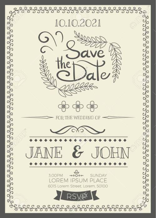 Medium Of Wedding Invitation Size