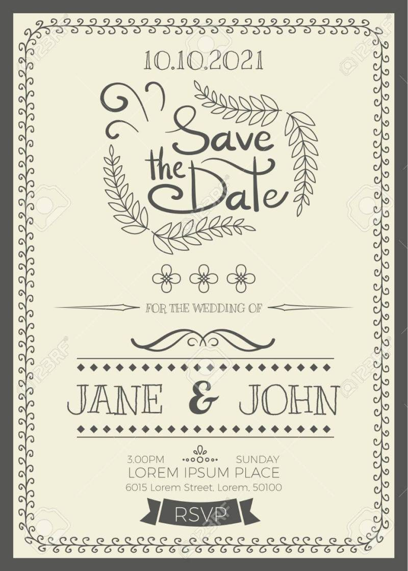 Large Of Wedding Invitation Size