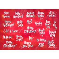 Dark Wishes Hand Drawn Text Brush Lettering Merry Happy New Holiday Wishes Quotes Poems Holiday Greeting Quotes 90590308 Set Coworkers Holiday Greeting Quotes inspiration Holiday Wishes Quotes