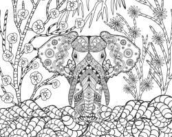 Astounding Fantasy Garden Animals Doodle Ethnic Patterned Illustration African Indian Tote Fantasy Garden Design 52882237 Elephant