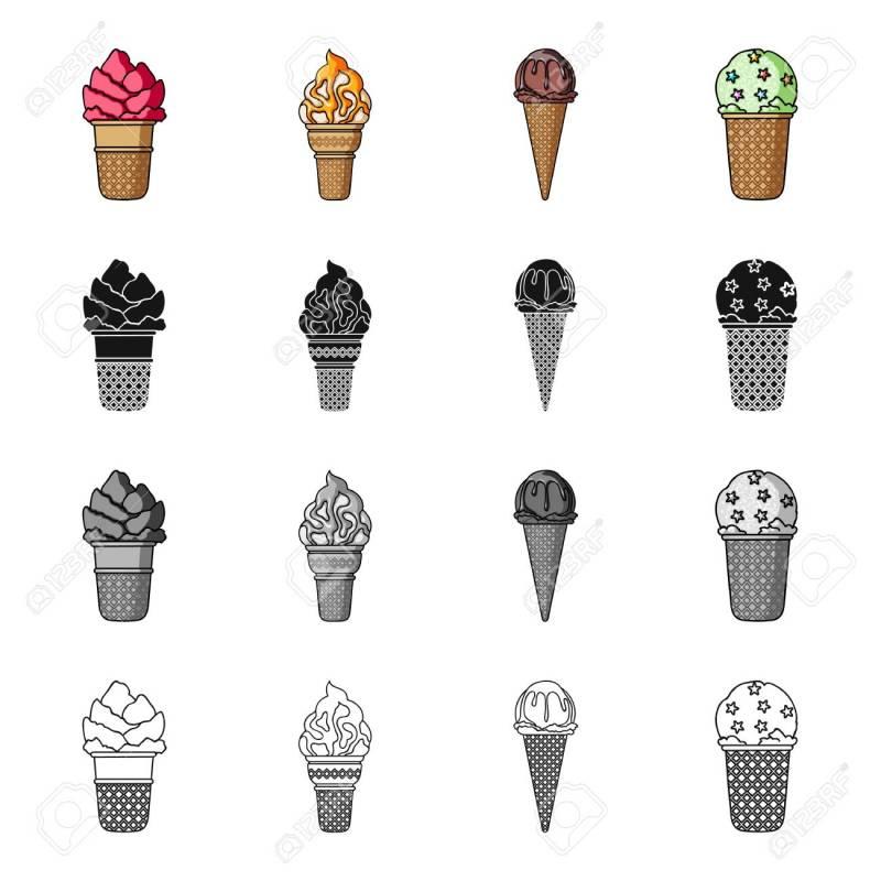Large Of Types Of Ice Cream
