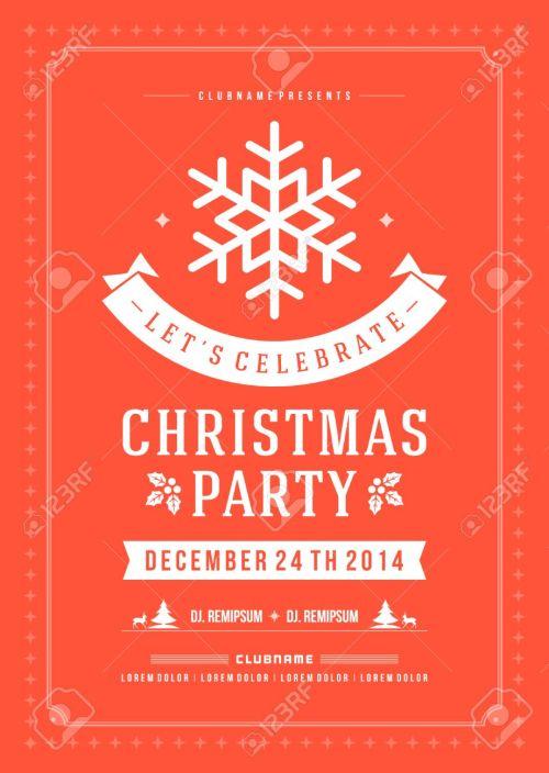 Medium Of Christmas Party Invitation
