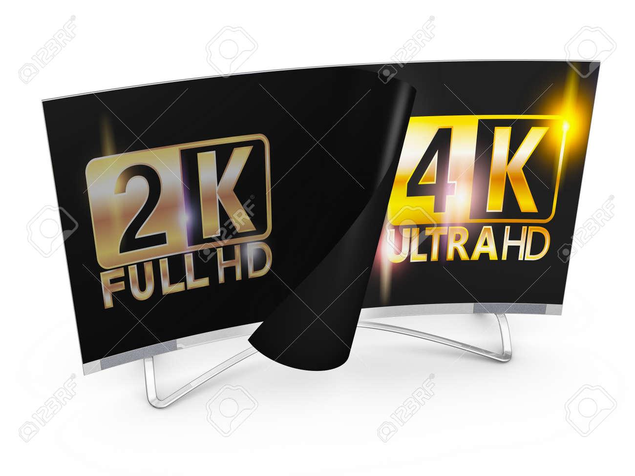 Dashing And Ultra Hd Inscription On Screen Stock Photo Tv And Ultra Hd Inscription On Screen Stock 2k Vs 1k Paint 2k Vs 4k Video Tv dpreview 2k Vs 4k