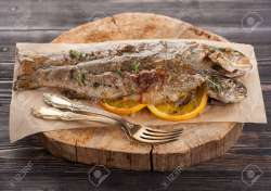Posh Thyme Stock Grilled Trout Recipes Fillet Grilled Whole Trout Recipes Orange Thyme Stock Photo Baked Trout Fish Baked Trout Fish Orange