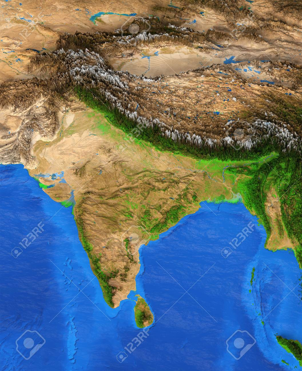 Map Of India  Detailed Satellite View Of The Earth And Its Landforms     Map of India  Detailed satellite view of the Earth and its landforms   Elements of