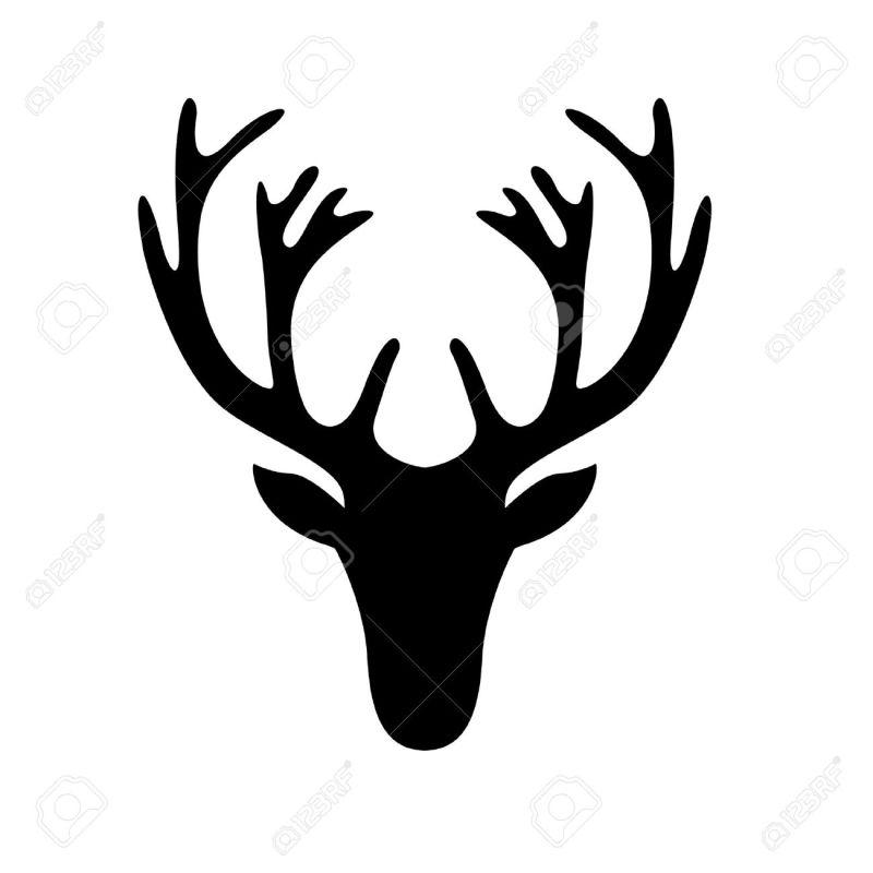 Large Of Deer Head Silhouette