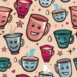 Small Crop Of Cartoon Tea Cups