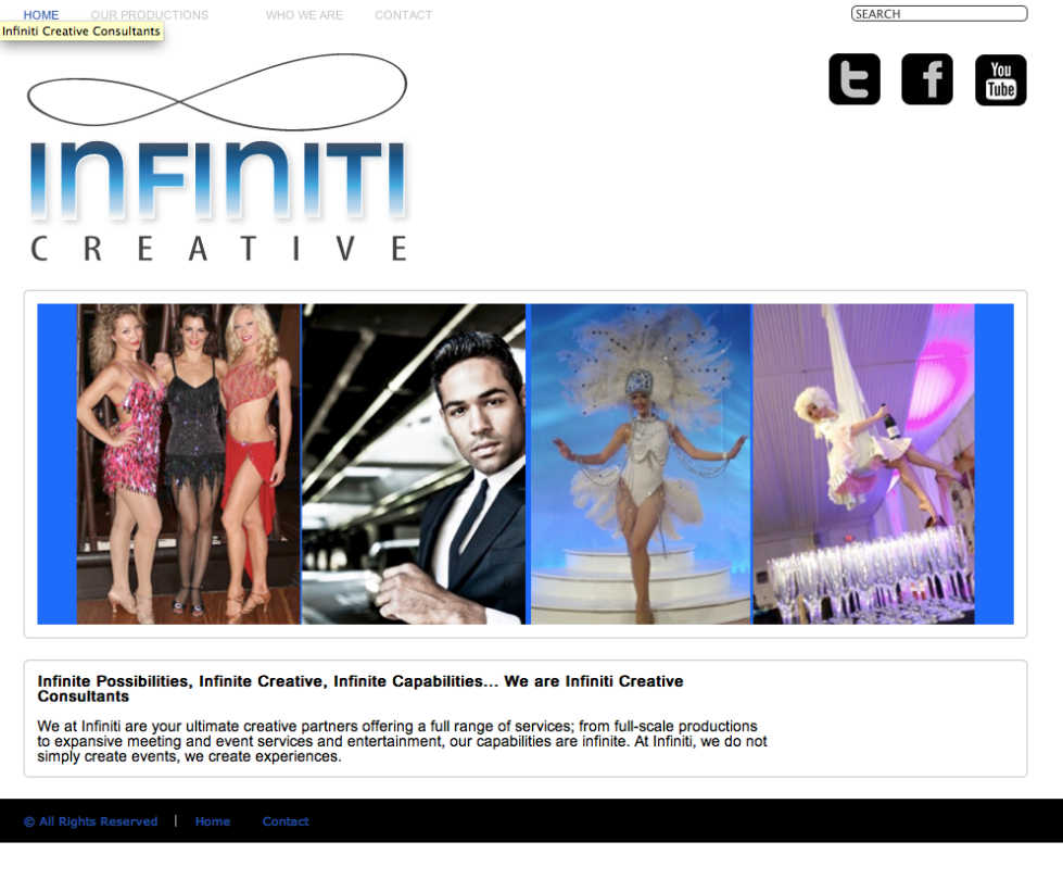Before - OLD Infiniti Creative Home Page