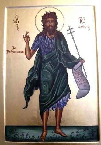 Icône de saint Jean-Baptiste, écrite pour le prieuré