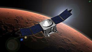 La sonda MAVEN. Vía NASA.