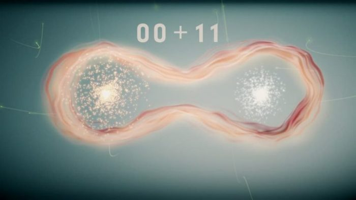 El entrelazamiento cuántico permite combinar los estados de dos qubits. Imagen: Tony Melov/UNSW