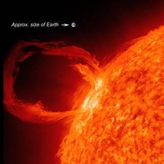 Una enorme llamarada solar. Imagen: NASA/SDO