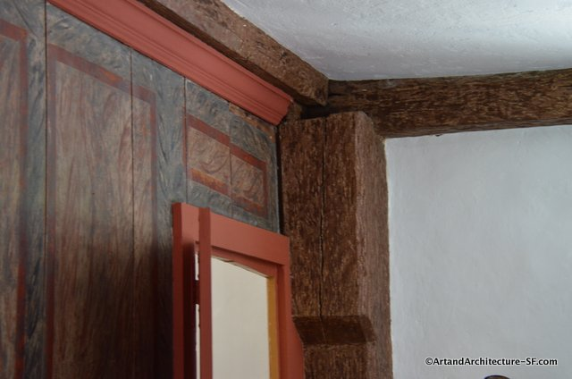 Wall art and Structural Beams in the Wanton-Lyman Hazzard House