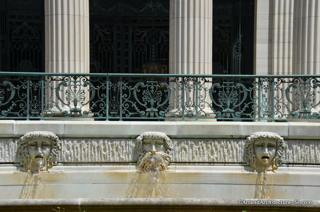 The Fountain at the front of Marble House