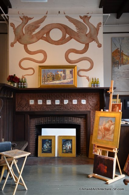 The Fireplace in Burleigh Studio
