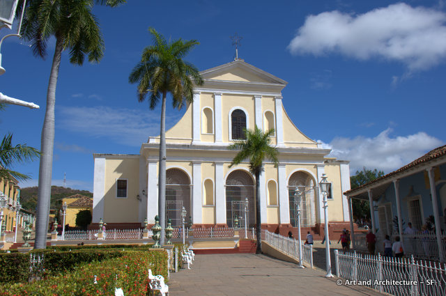 The ParochialChurch of the Holy Trinity  Built in 1892, this classic facade is composed of four naves.