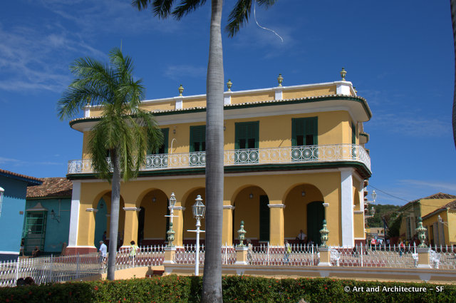 Built in 1812 for the Borrell Family, this classic colonial Trinidad residence now houses the Romantic Museum