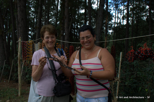 Sue Opdyke with one of the daughter-in-laws.  She makes the necklaces to sell