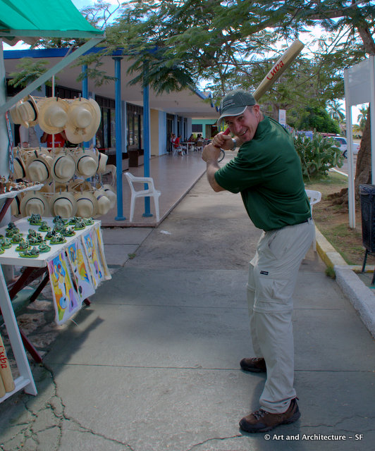 Our guide Gustavo showing us his mighty swing
