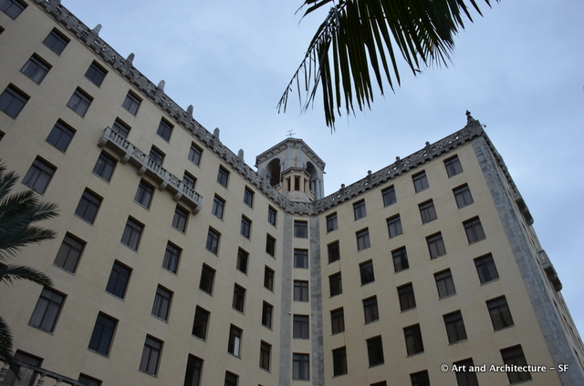 Designed by McKim, Mead and White, the hotel features a mix of styles. It opened in 1930, when Cuba was a prime travel destination for Americans.