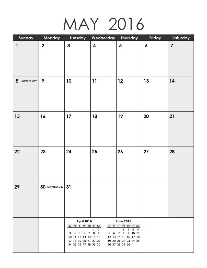 May 2016 Printable Calendar landscape, May 2016 Printable A4 Templates, May 2016 Calendar Portrait Printable, May 2016 Landscape Printable Calendar, May 2016 Portrait Editable Templates, May 2016 A4 Calendar Printable