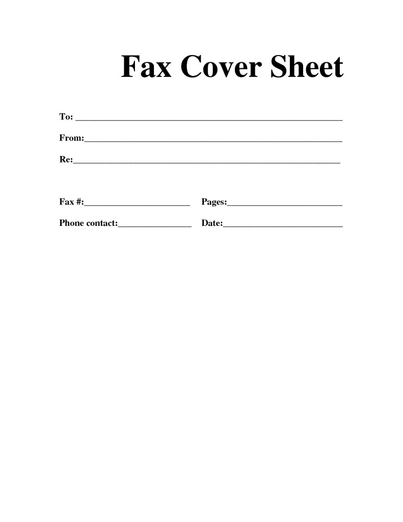 Free Fax Cover Sheet Template Download Printable Calendar Templates