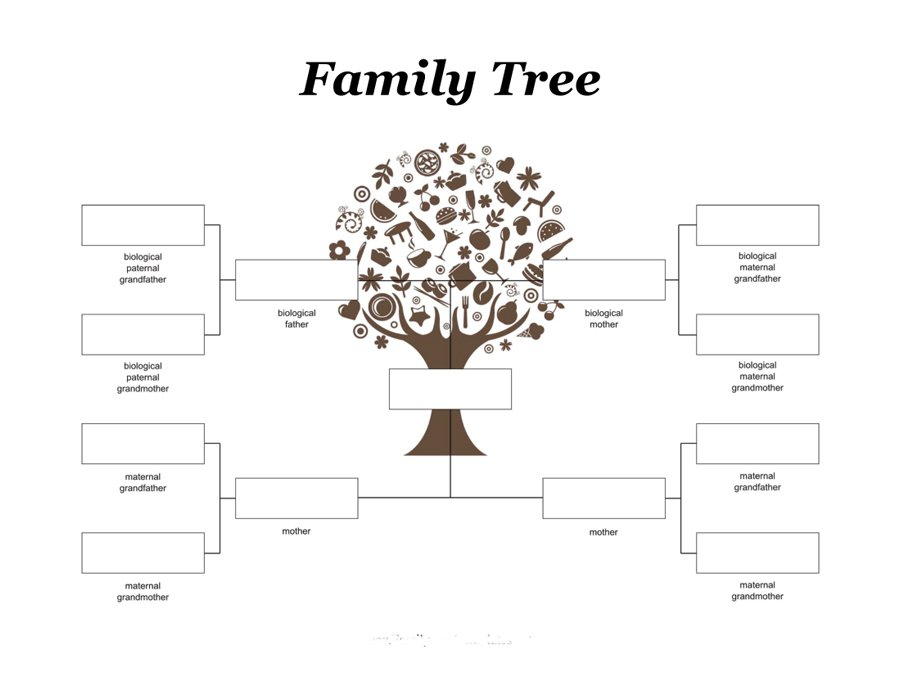 Free Family Tree Template Printable Calendar Templates