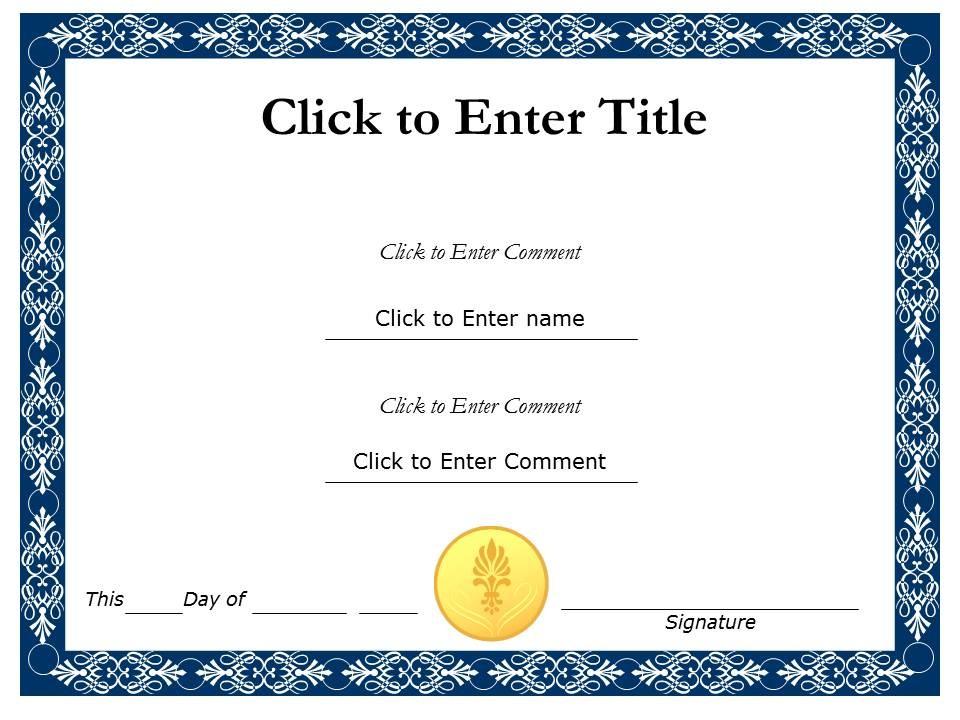 Free Certificate Design Templates Printable Calendar Templates