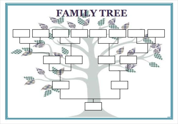 15 Free Family Tree Template Chart Diagram In Pdf Excel